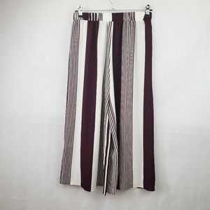 🔴SALE🔴 Forever 21 Maroon White Striped Palazzo
